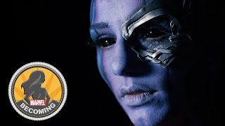 Cosplayer AmberSkies becomes Nebula - Marvel Becoming
