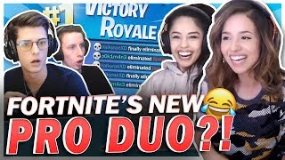 FORTNITE'S NEW PRO DUO?! Ft. Nate Hill, Valkyrae & Morgausse!