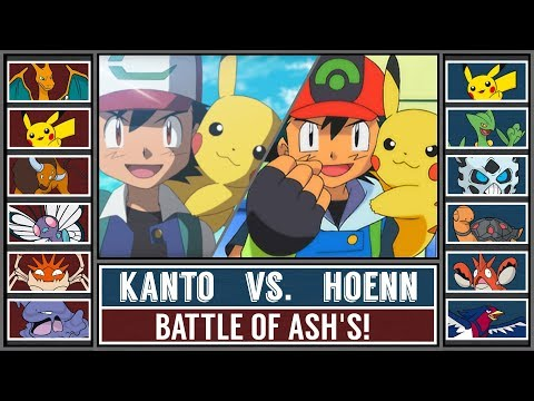 Kanto Ash vs. Hoenn Ash (Pokémon Sun/Moon) - Battle Ash's