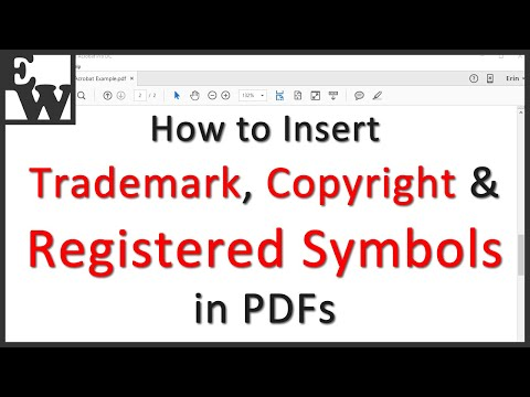 How To Insert Trademark, Copyright, And Registered Symbols In PDFs