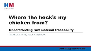 Understanding raw material traceability