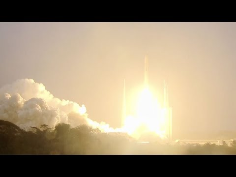 Ariane 5 ECA launches DSN-1/Superbird-8 & HYLAS 4 satellites