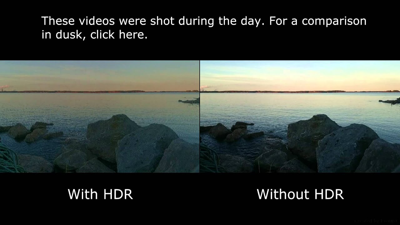 HDR-recorded Video Vs. Normal Video