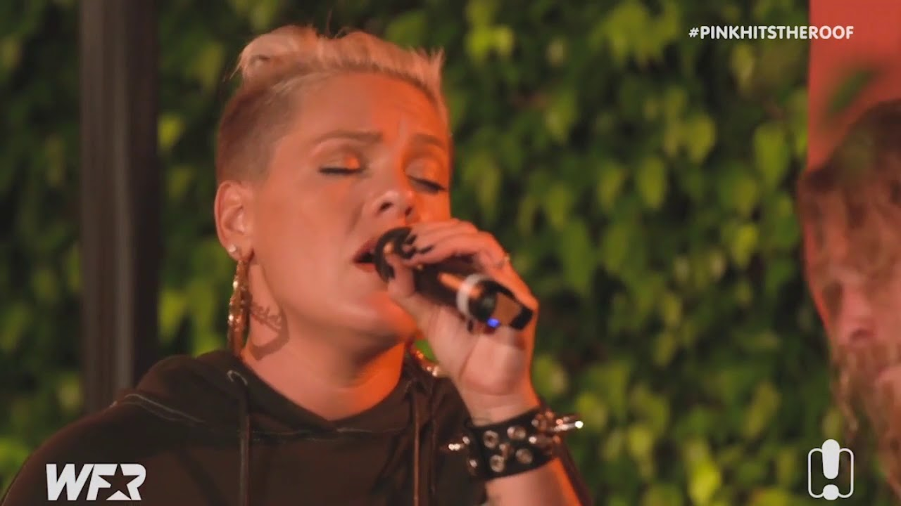 "P!nk ""What About Us"" (Acoustic) LIVE at World Famous Rooftop 2017"