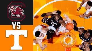 2020 College Basketball South Carolina vs Tennessee Highlights