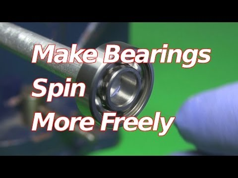 How to Make Bearings Spin Faster/Freely