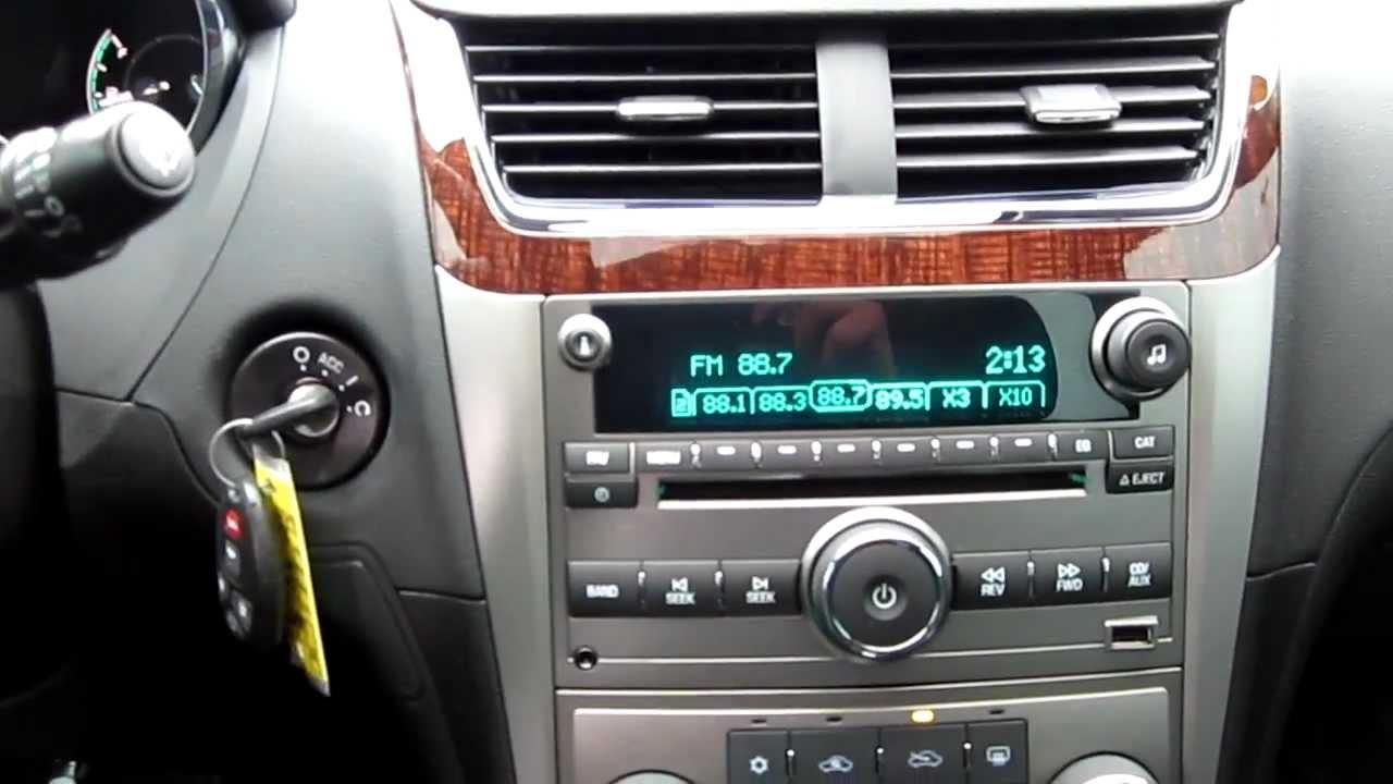 2012 Chevrolet Malibu Ltz White Stock 606593 Interior