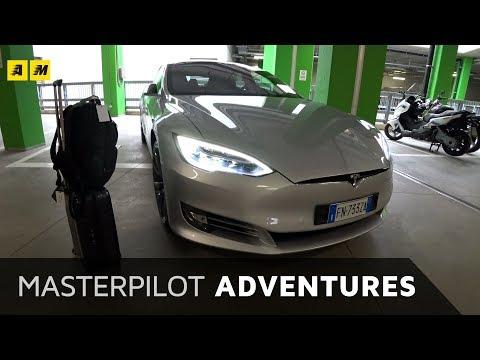 Tesla Model S da Milano a Roma per la Formula E 2018 | Masterpilot VLOG + cameo Galeazzi (4k video)