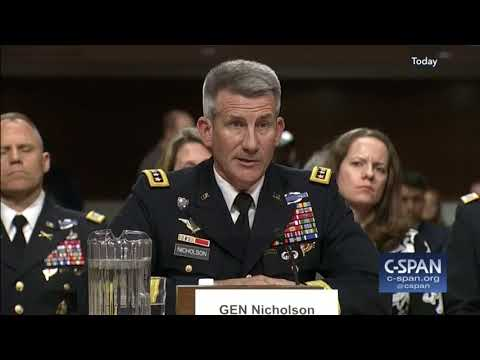 Stay in Afghanistan, says U.S. General John Nicholson - Feb 9, 2017