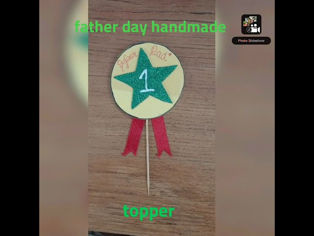 father's day special##hand made cake topper## easy idea