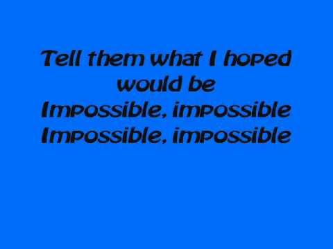 Lirik lagu Impossible James arthur 1