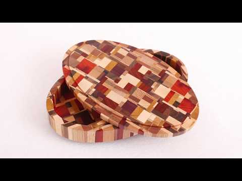 Oval chaotic pattern jewelry box