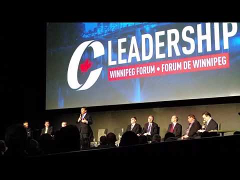 Conservative Leadership Candidates in Winnipeg Canada