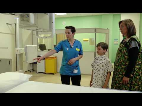 What happens in an X-ray scan?
