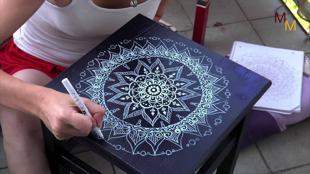 mandala zeichnen art draw painting diy youtube. Black Bedroom Furniture Sets. Home Design Ideas