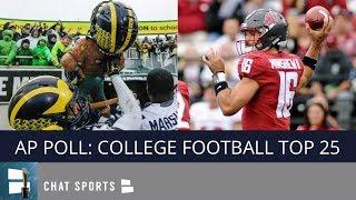AP Poll: College Football Top 25 Rankings For Week 9