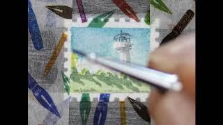 우표에 그려보는 귀여운 풍경화