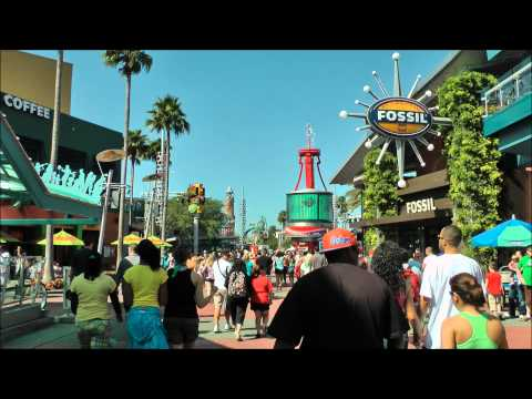 Universal CityWalk (Sights and Sounds), Universal Orlando, (HD 1080p)