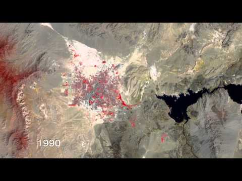 Las Vegas Urban Growth, Satellite Timelapse