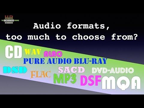Audio formats: too much to choose from?