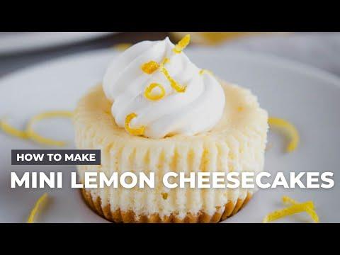 How to Make Easy Mini Lemon Cheesecakes