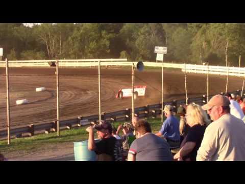 Hummingbird Speedway (7-8-17): BWP Bats Late Model Heat Race #2