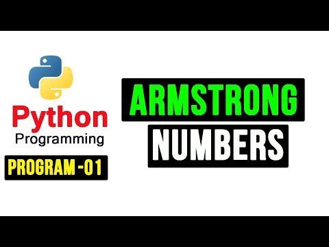 Python 3 Programs -01- Armstrong Numbers