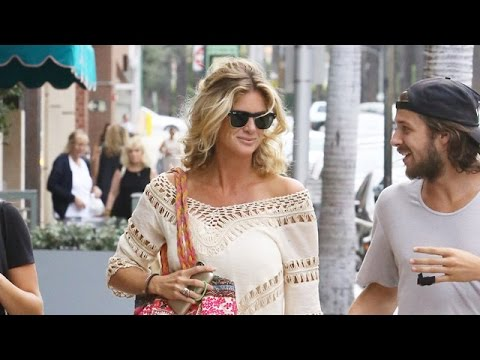 Rachel Hunter Is Bohemian Chic With Her Son In Beverly Hills