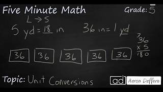 5th Grade Math Unit Conversions