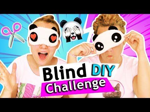 BLIND DIY CHALLENGE Eva vs. Kathi SOMMERDEKO basteln mit verbundenen Augen in 5 Min. DIY Inspiration