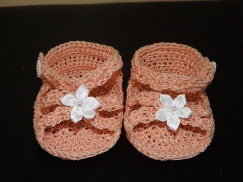 Crochet Sandalias Para Bebe'