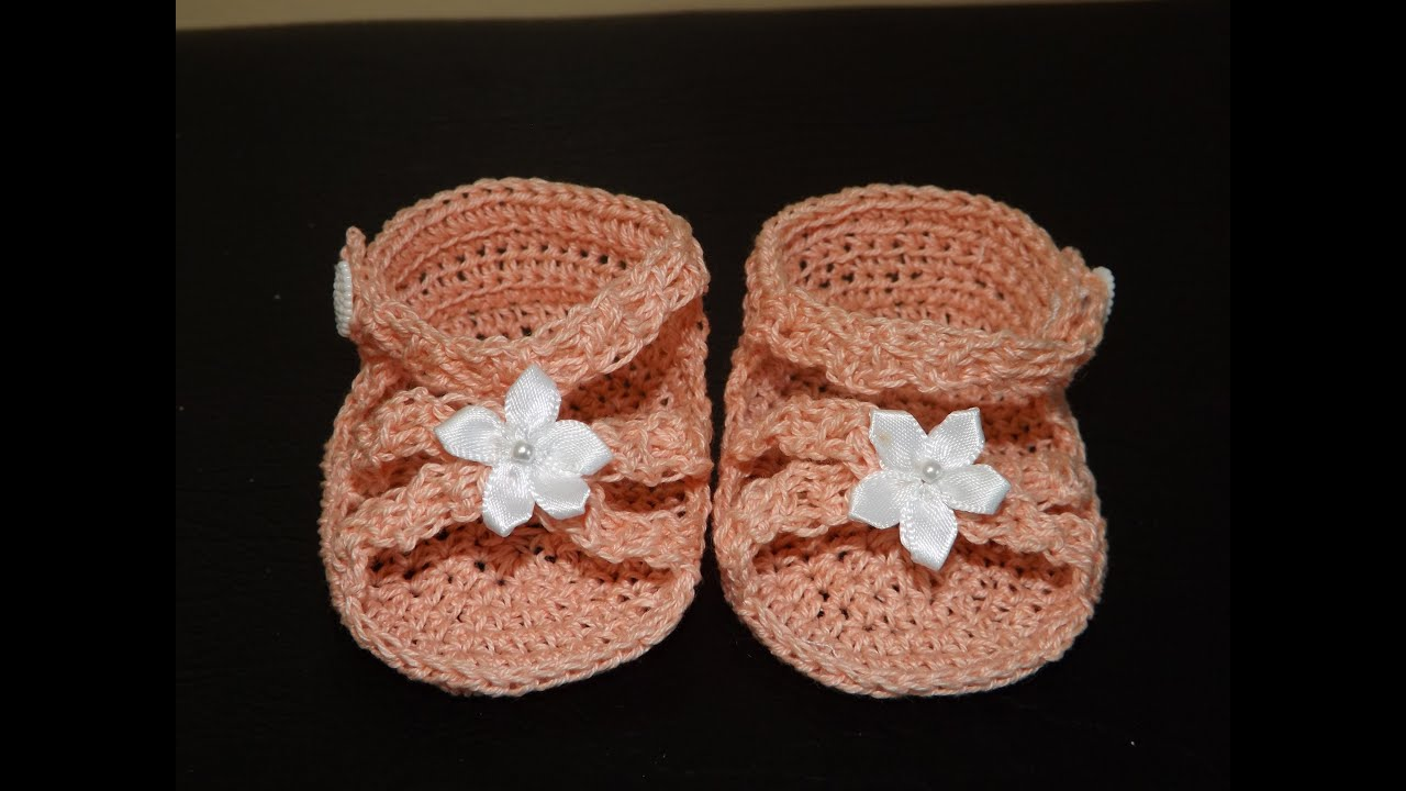 Crochet Sandalias Para Bebe\' - YouTube