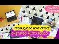 HOME OFFICE TUMBLR - DECORANDO QUARTO GASTANDO POUCO (cenário para videos)