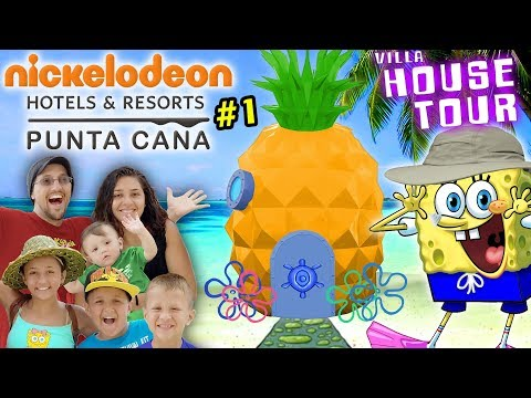 spongebob-house-tour-in-real-life!-nickelodeon-suites-resort-pineapple-villa-w/-fv-family