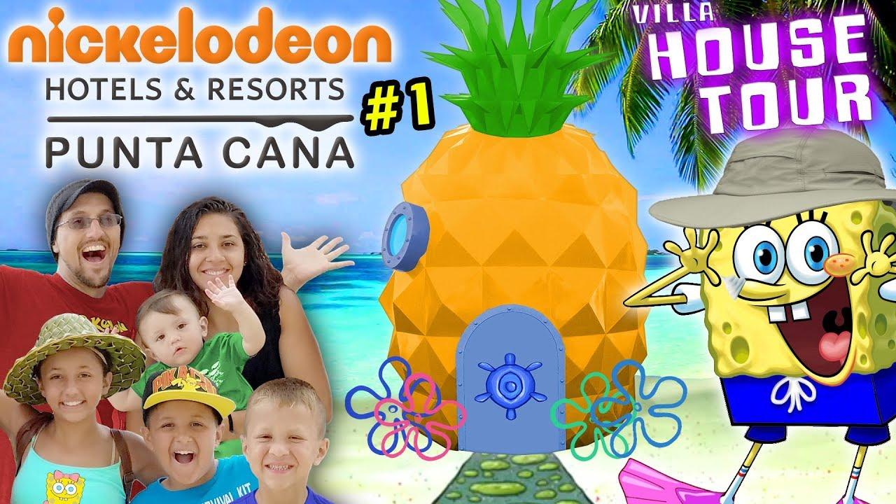 Download SPONGEBOB HOUSE TOUR in REAL LIFE! Nickelodeon Suites Resort Pineapple Villa w/ FV Family