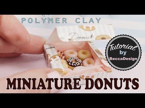 Miniature donuts - polymer clay tutorial f38eefdb2c267