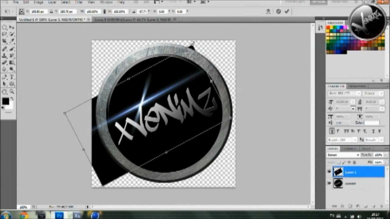 How To Make Free Professional Logo (Download Template) - Speed Art ...