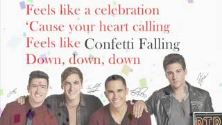 Big Time Rush - Confetti Falling Instrumental [Lyrics] ( With Vocals)