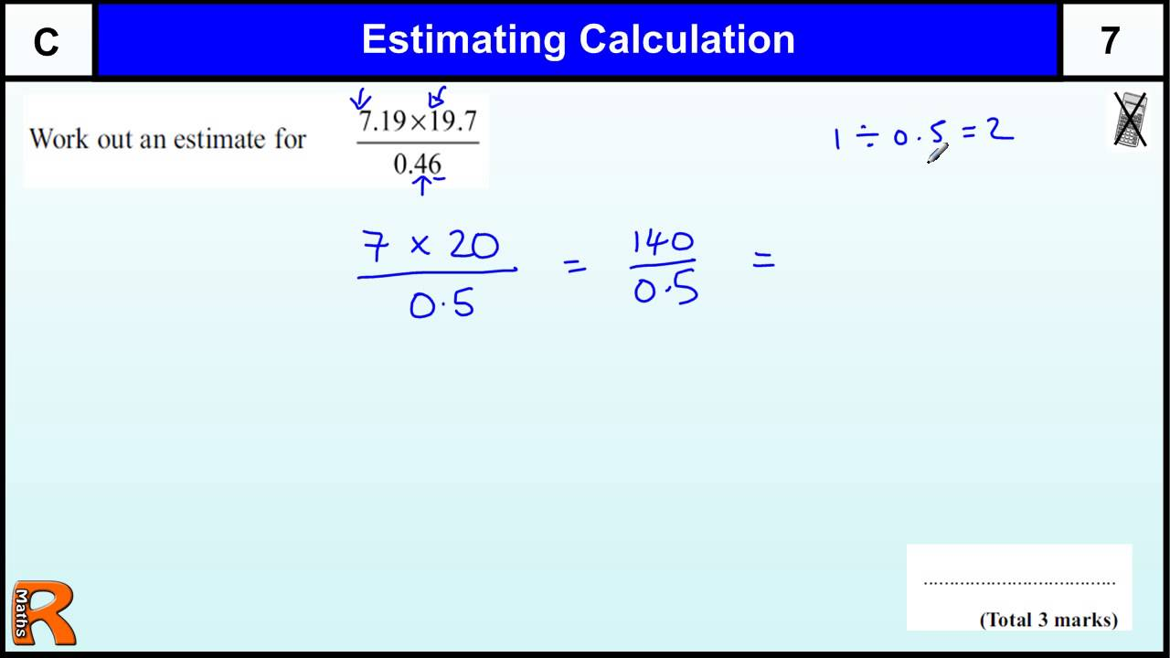 estimating calculations gcse maths foundation revision exam paper practice help youtube. Black Bedroom Furniture Sets. Home Design Ideas