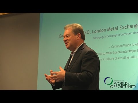 Garry Jones, CEO, London Metal Exchange: Managing an Exchange in Uncertain Times
