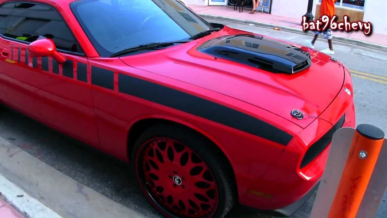 Red Amp Black Dodge Challenger Rt On 24 Quot 26 Quot Forgiatos