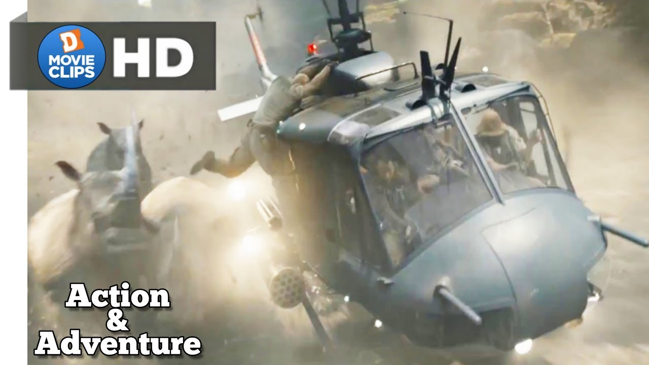 Jumanji: Welcome to the Jungle Hind Helicopter Action & Adventure Scene MovieClips