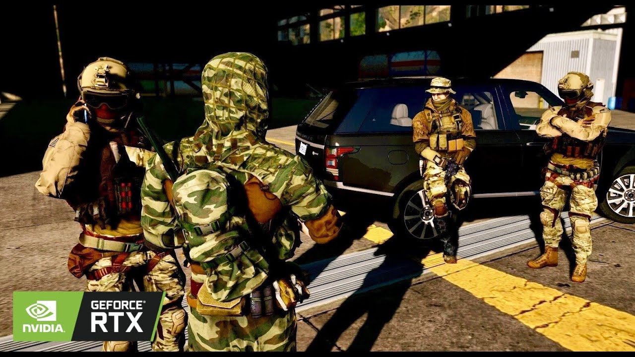 Grand Theft Auto V Remastered   PlayStation 5 Graphics Demo?   Action Military Gameplay MOD 4K PC