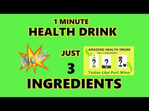 Non-Alcoholic Healthy Drink! Tastes Like Port Wine Only 3 Ingredients Super Healthy Drink!