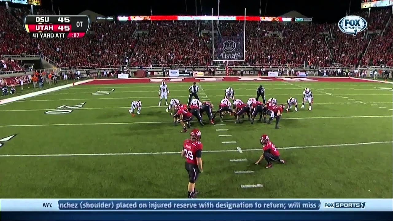 Utah vs OSU Andy Phillips Both Field Goals