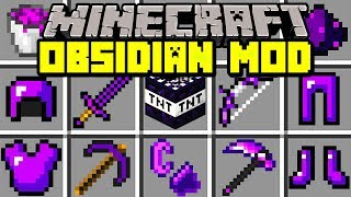 Minecraft OBSIDIAN MOD! | NEW WEAPONS, ARMOR, DIMENSION, & MORE! | Modded Mini-Game