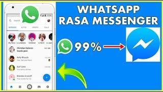Cara Merubah Tampilan Whatsapp Seperti Messenger (Whatsapp Mirip Messenger) screenshot 1