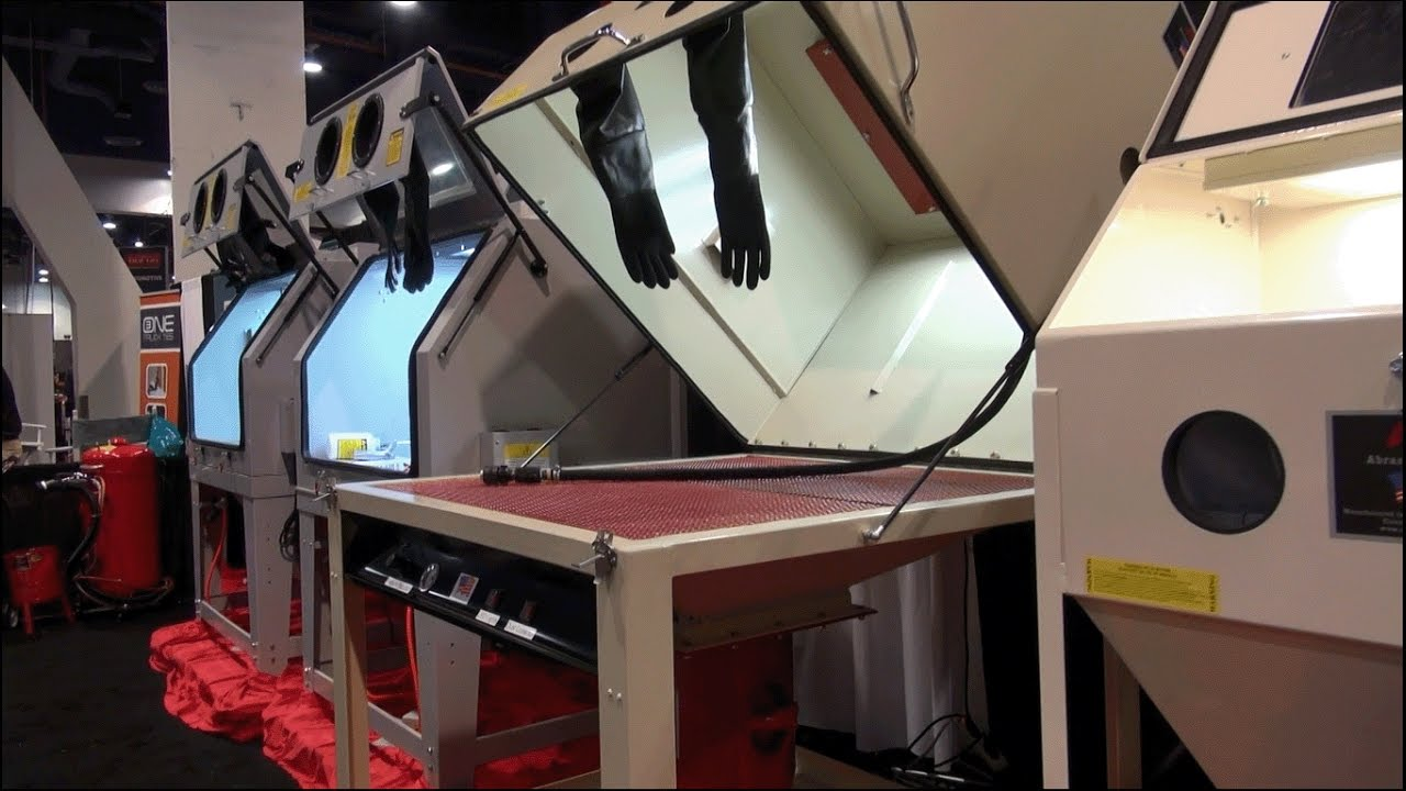 ALC Pressure Pot Media Blast Cabinet - YouTube