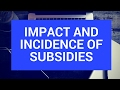 The impact and incidence of subsidies