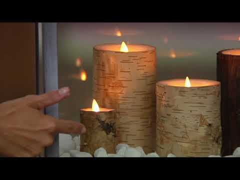 Martha Stewart Choice of Flameless Bark Wrapped Candle Garden w/Remote on QVC